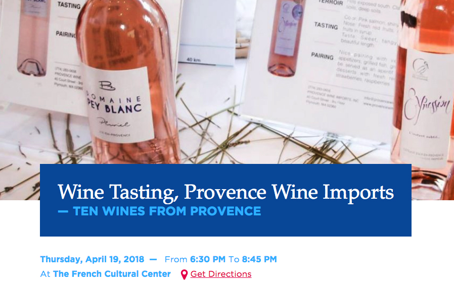 Great Pey Blanc presentation with Provence Wine Imports @ French Cultural Center, Boston, MA.